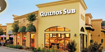 Quiznos exterior; see below for links to Quiznos coupons