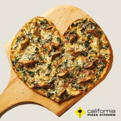 CPK's heart shaped pizza for Mothers Day