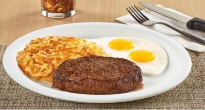 steak and eggs special at dennys