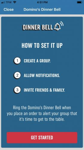 Dominos App Screenshot 1