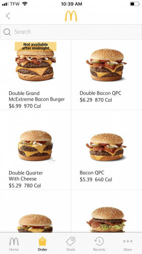 McDonald's App Screenshot 1
