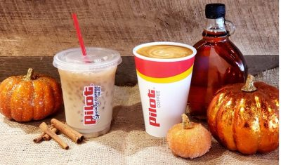 Pumpkin coffee for 2019 at Pilot Flying J