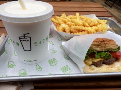 Shake Shack Burger, Fries and Shake