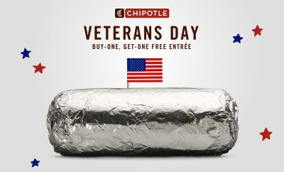 2019 Veterans Day special at Chipotle