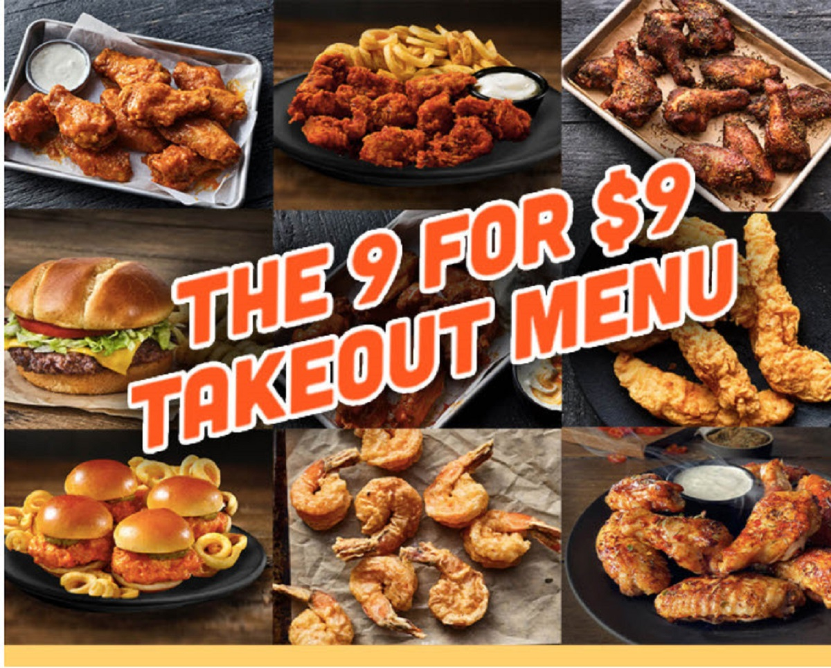 Hooters $9 Weekday Lunch Takeout Deals