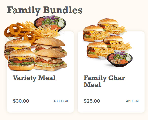 Habit Burger Family Bundles