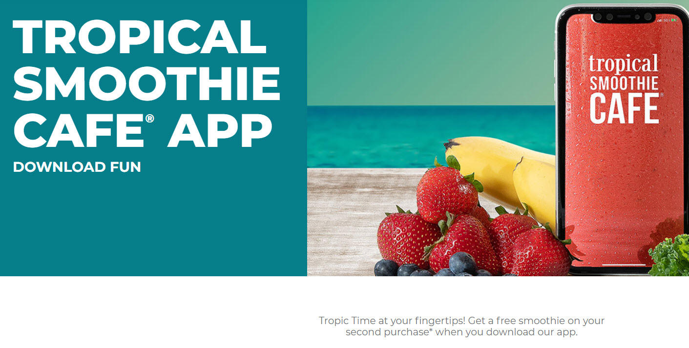 Tropical Smoothie Cafe Free Smoothie Offer