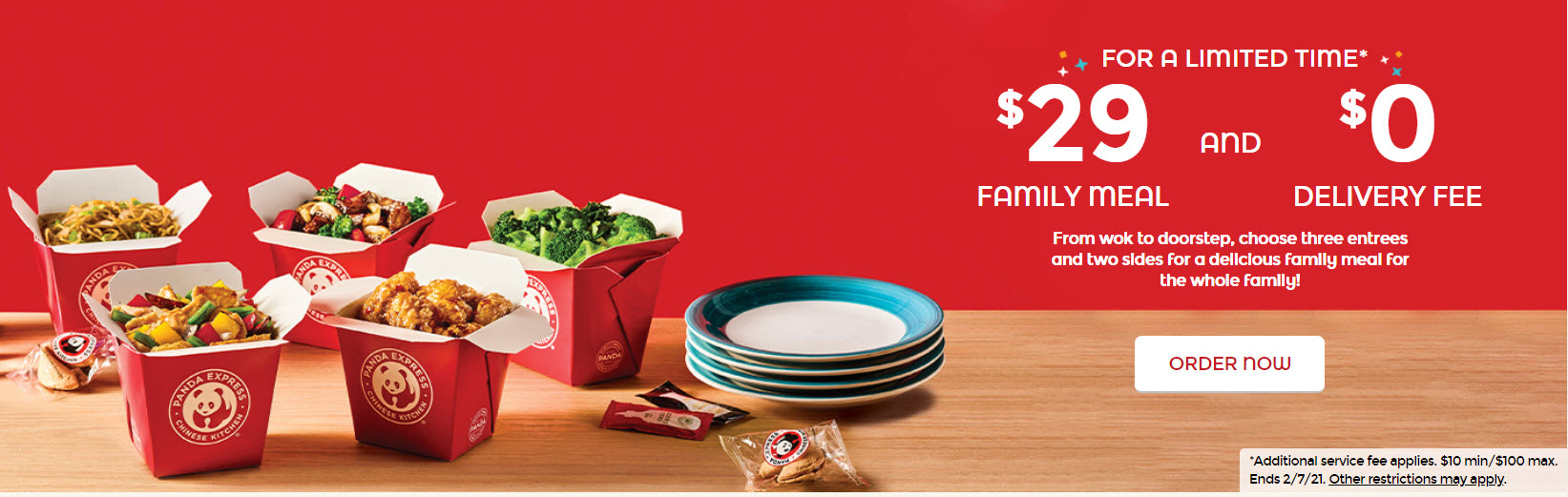 Panda Express Family Meal and Delivery Deals