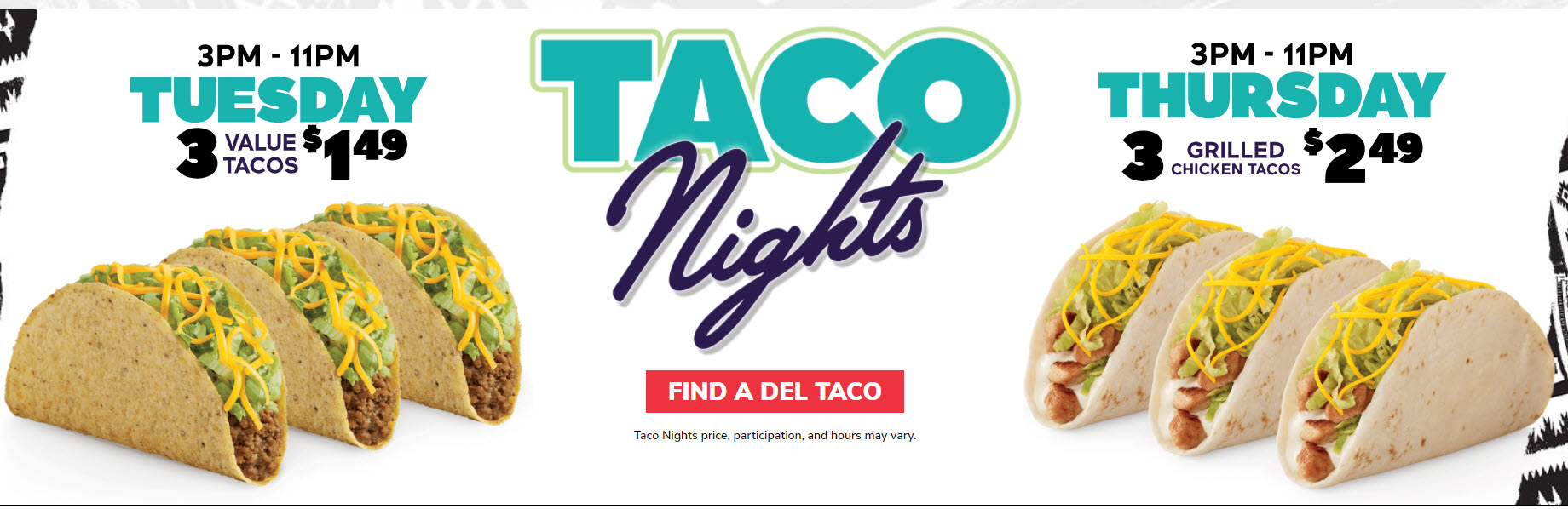 Del Taco Tuesday and Thursday Deals