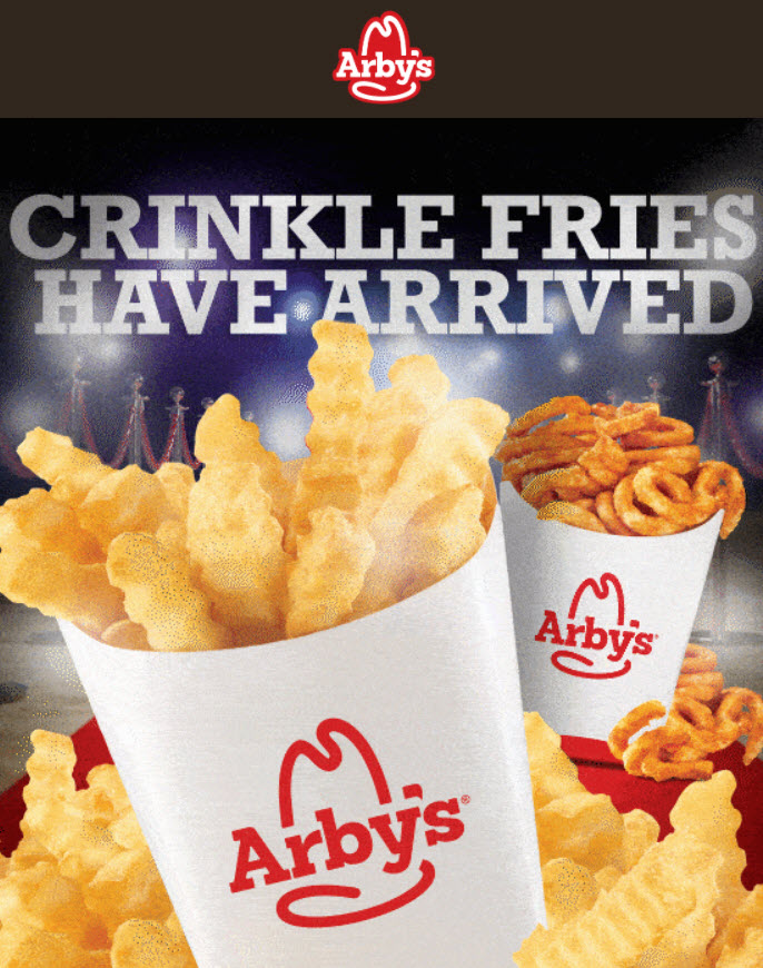 Arby's Crinkle Cut Fries For $1
