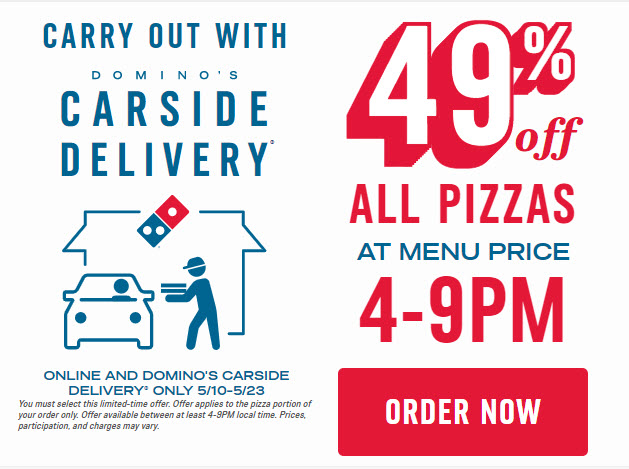 Domino's 49% Off Deal