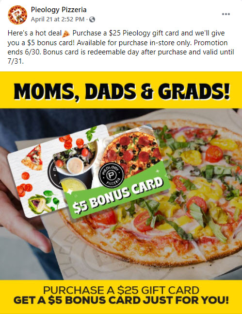 Pieology Gift Card deal