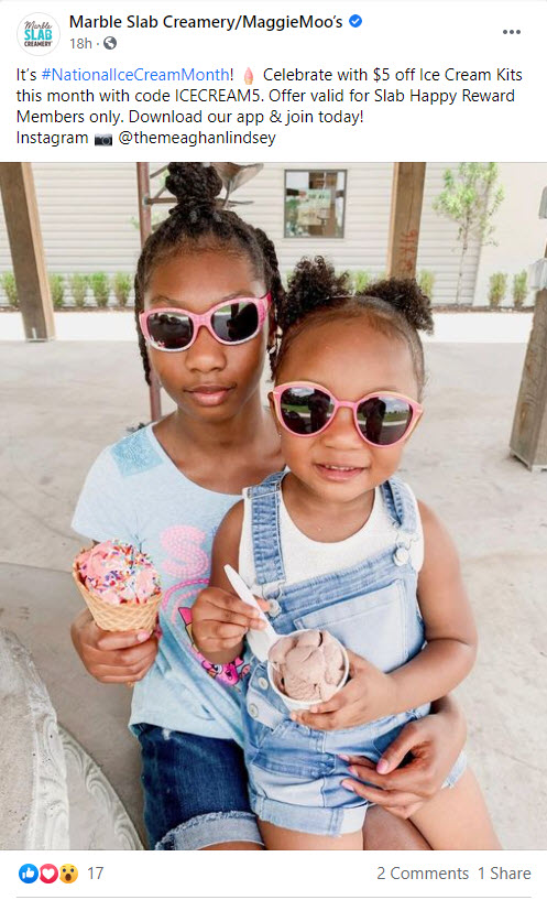 Marble Slab and Maggie Moo's $5 Off Coupon Code