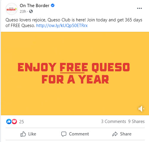 On The Border $1 Queso Subscription Deal