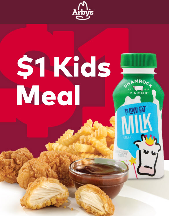 Arby's $1 Kids Meals Deal