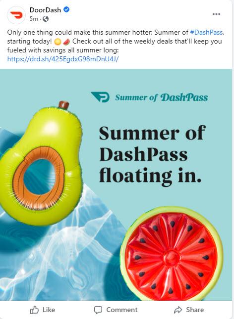 DoorDash Summer DashPass Deals