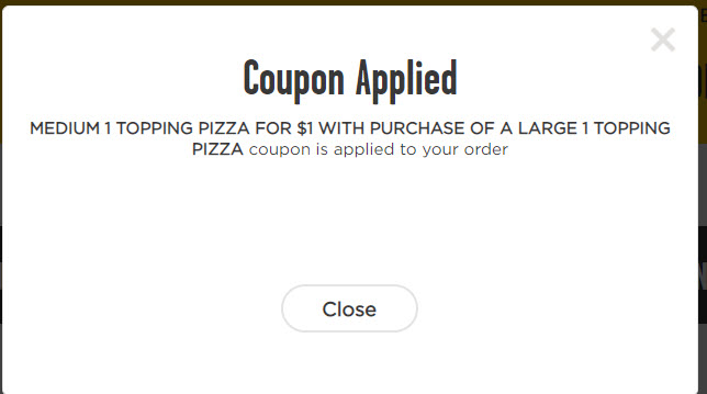 Hungry Howie's BOGO for $1 Deal