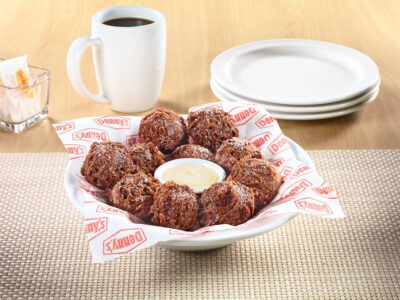 Double Chocolate Pancake Puppies Denny's